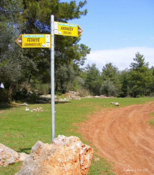Fethiye Walks Way Marker