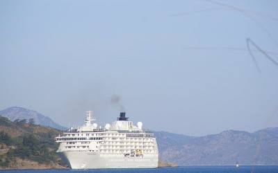 A Cruise Ship Arrives In Fethiye Bay