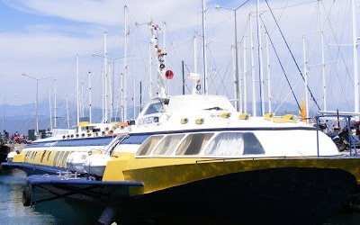 Flying Poseidon Docked In Fethiye Harbour