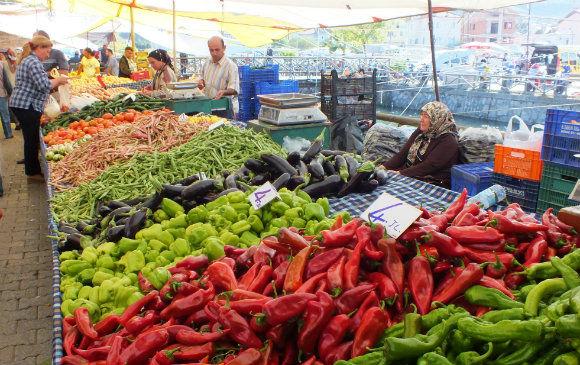 Barbunya On Fethiye Market