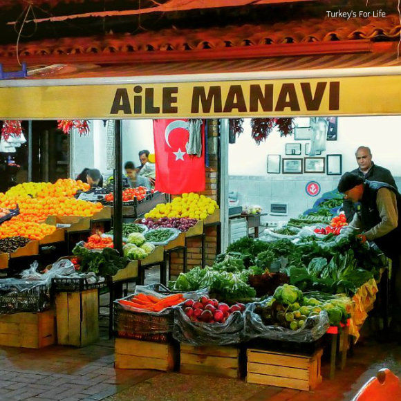 Fethiye Fish Market Fruit And Vegetable Stall