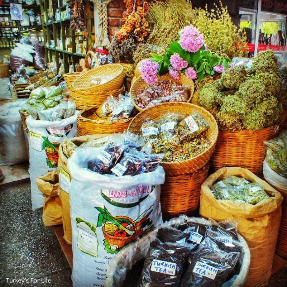 Fethiye Fish Market Spice Stalls