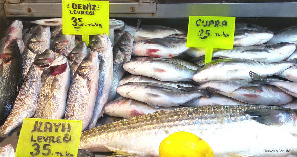Seabass And Seabream At Fethiye Fish Market