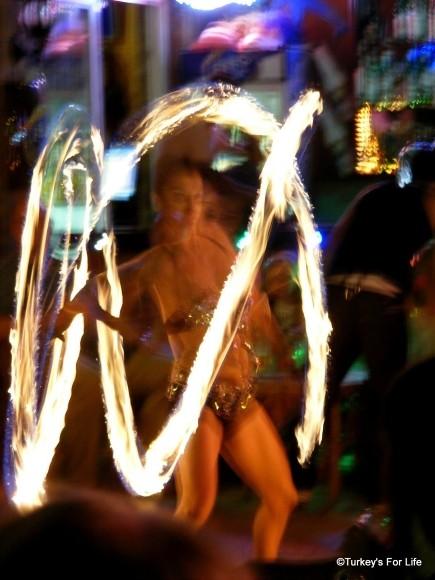 Lady Fire Dancer in Hisarönü