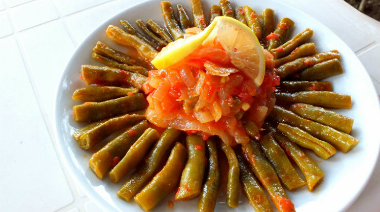 Turkish Green Beans In Olive Oil - Zeytinyagli Taze Fasulye
