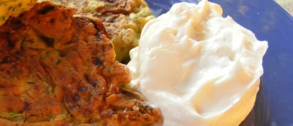 Turkish Courgette Fritters With Süzme Yoghurt