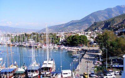View Of Fethiye Harbour From Hotel Dedeoğlu