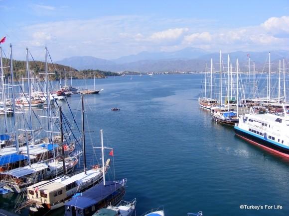 Fethiye Harbour Gülets From Dedeoğlu Hotel