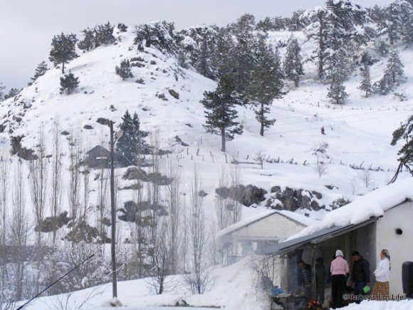 Snowy Mountains In Nif, Near Üzümlü, Turkey