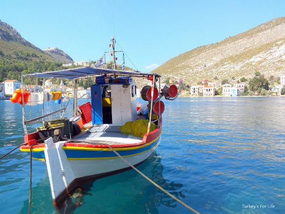 Greek Fishing Boat In Kastellorizo