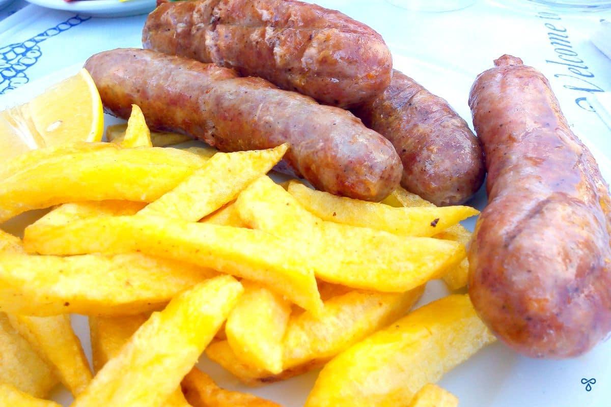 Barbecued Greek Sausages