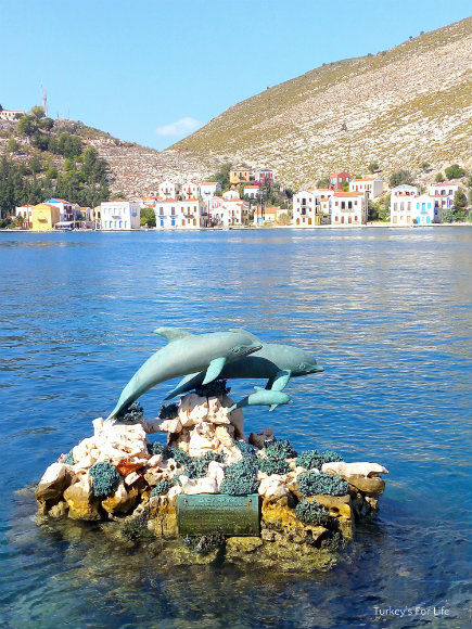 Dolphin Sculpture In Meis Kastellorizo