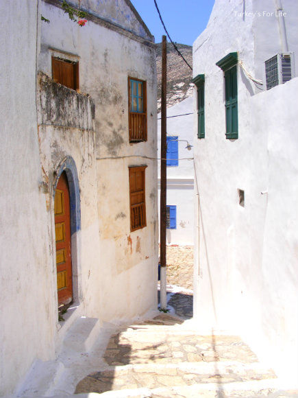 Whitewashed Homes On Meis Island
