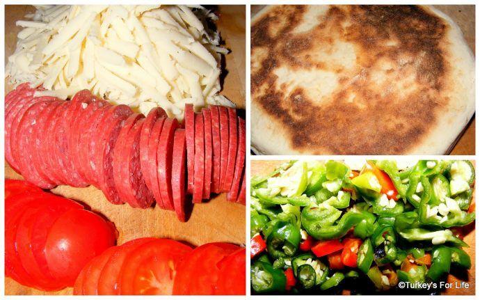 Turkish Toastie Ingredients