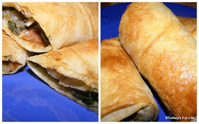 Turkish Recipes – Çintar Mushroom & Spinach Börek