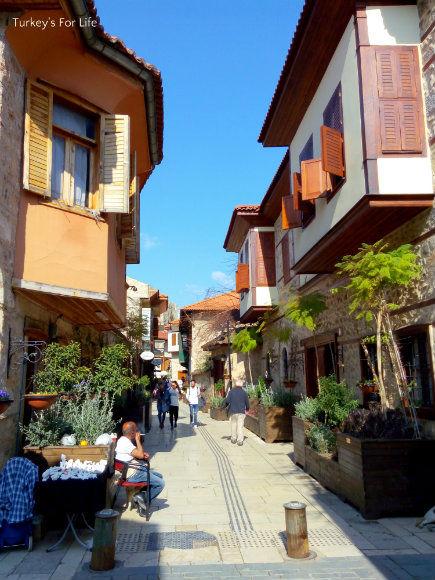 Restored Streets In Kaleiçi, Antalya