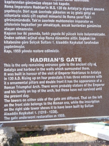 Info On Hadrian's Gate, Antalya
