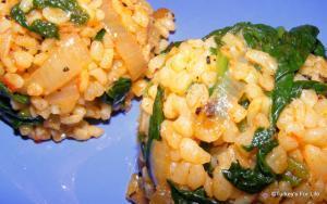 Bulgur Pilaf With Spinach Recipe