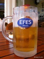 A Frozen Glass Of Efes Pilsen In Ölüdeniz