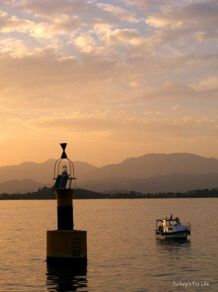 Fethiye to Çalış Water Taxi At Sunset