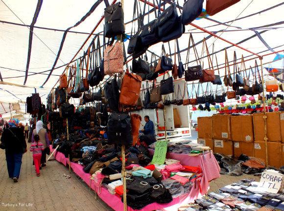 Fethiye Tuesday Market Bag Stall