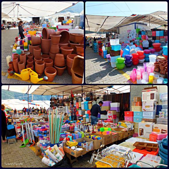Fethiye Tuesday Market Plastics