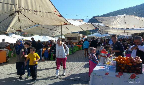 Kebabs And Pancakes At Fethiye Market