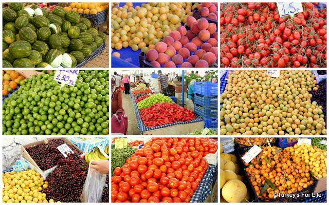 Seasonal Produce On Fethiye Market