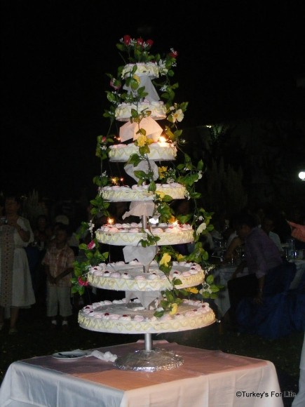 turkish wedding cake weddings in fethiye the turkish version turkey s for 21296
