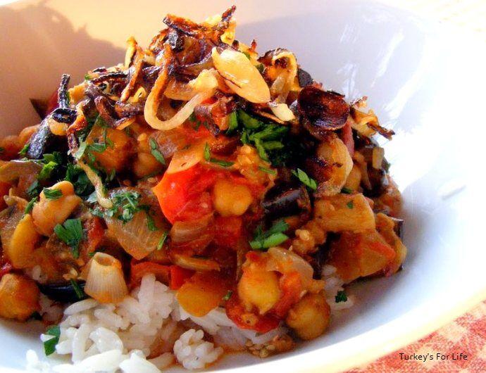 Aubergine And Chickpea Stew Recipe