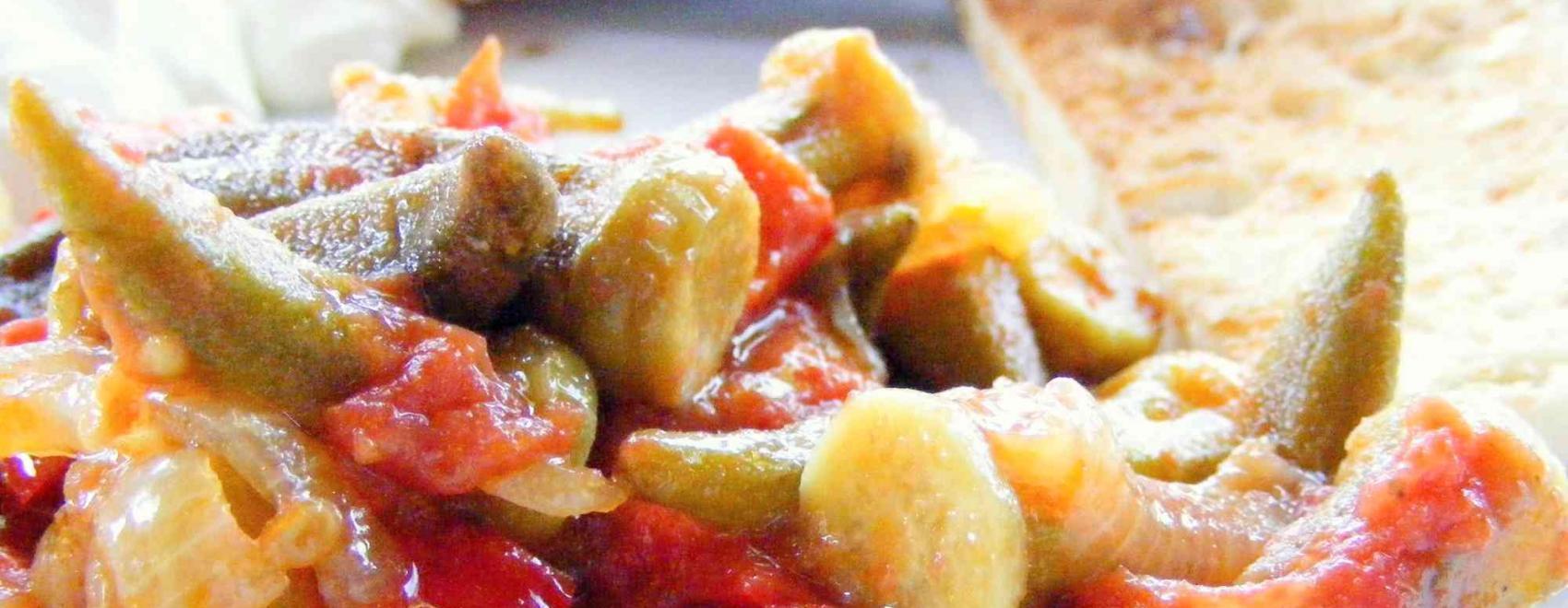 Okra In Olive Oil Recipe
