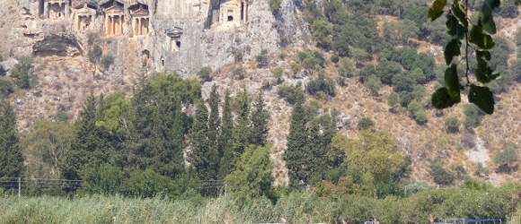 Lycian Rock Tombs In Dalyan, Turkey