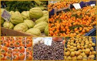 Turkish Seasonal Food On Fethiye Market