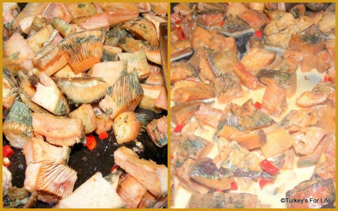 Saffron Milk Cap Mushrooms On Toast