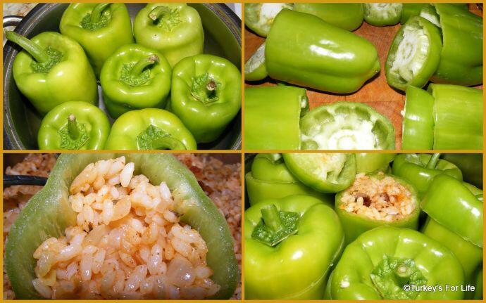 Turkish Stuffed Peppers Dolma