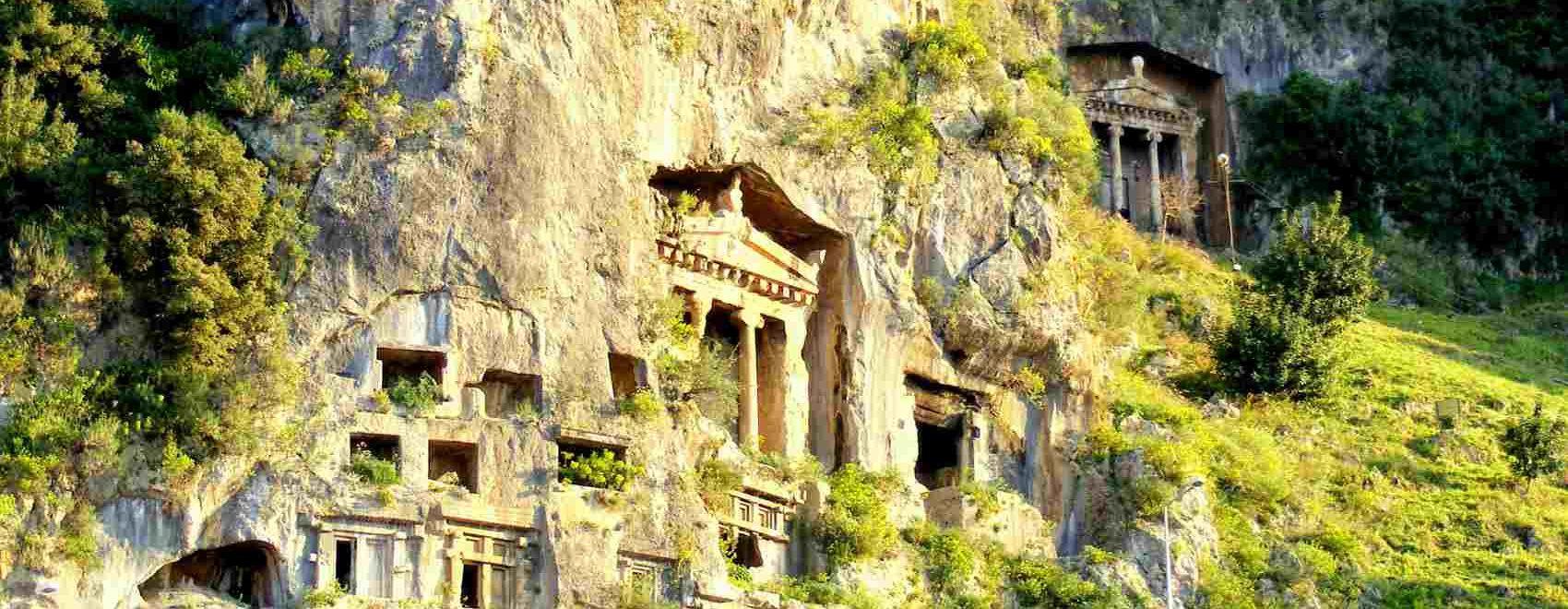Fethiye Lycian Rock Tombs, Turkey