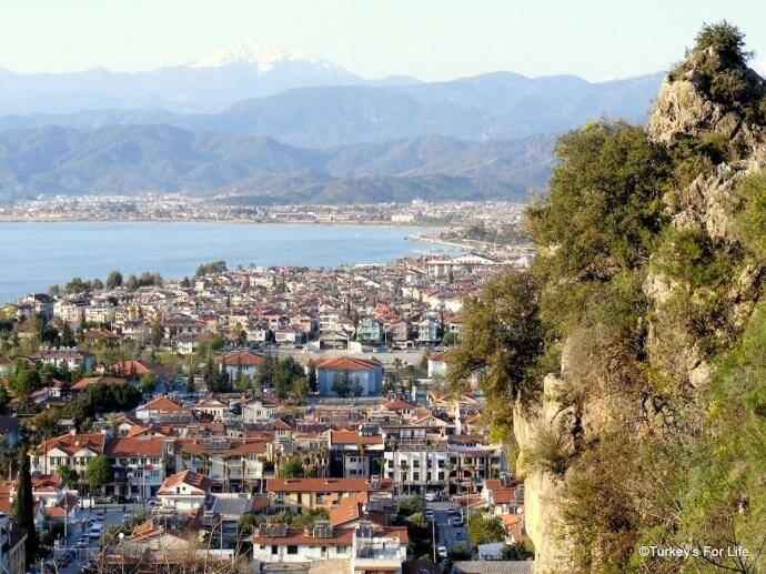 View Of Fethiye From Tomb Of Amyntas