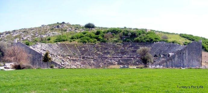Ancient Theatre At Letoon Ruins