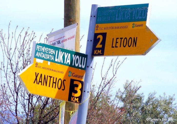 Lycian Way Markers Letoon And Xanthos