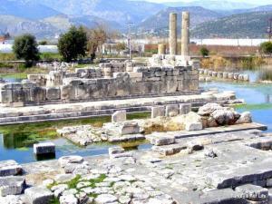 Temple Of Leto At Letoon, Turkey