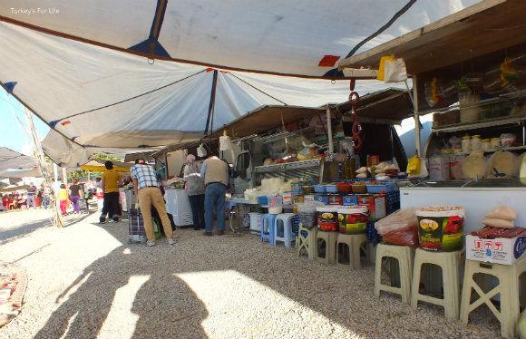 Dairy Stalls At Çalış Sunday Market