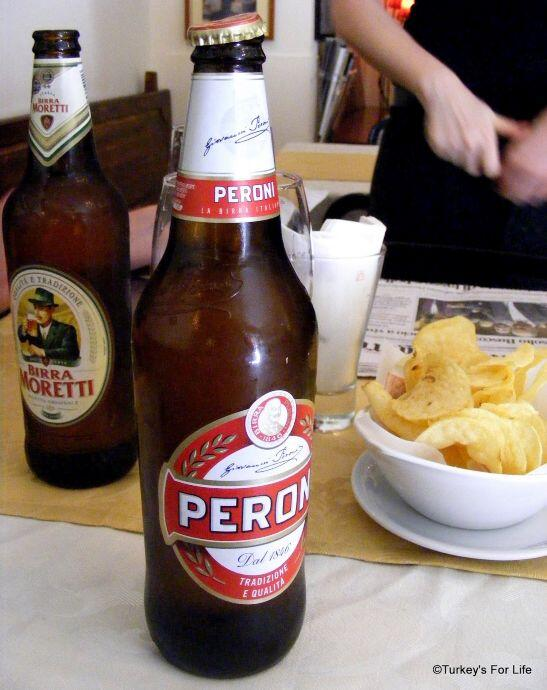 Italian Beer - Peroni And Morett