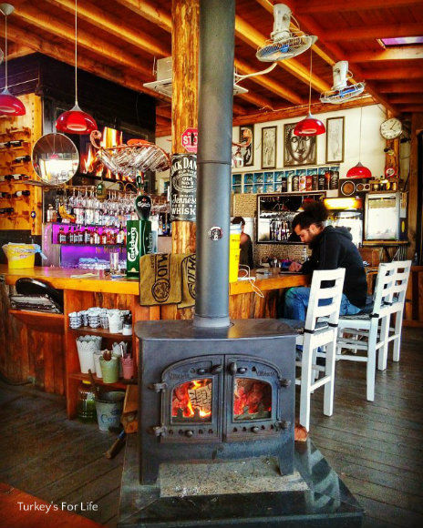 Cafe Park Teras Log Burner
