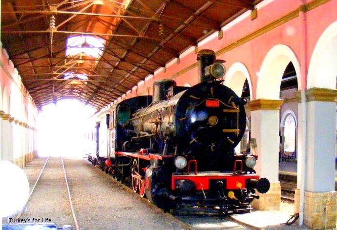 Alsancak Train Station Steam Train