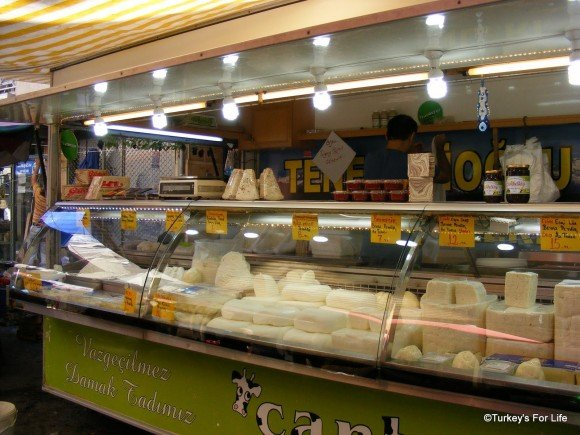 Cheese Stall, Alsancak Market, Izmir