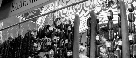 Istanbul: Egyptian Spice Bazaar In Black & White