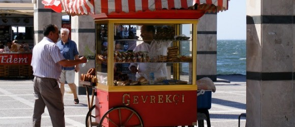 Gevrek Street Food In Izmir, Turkey