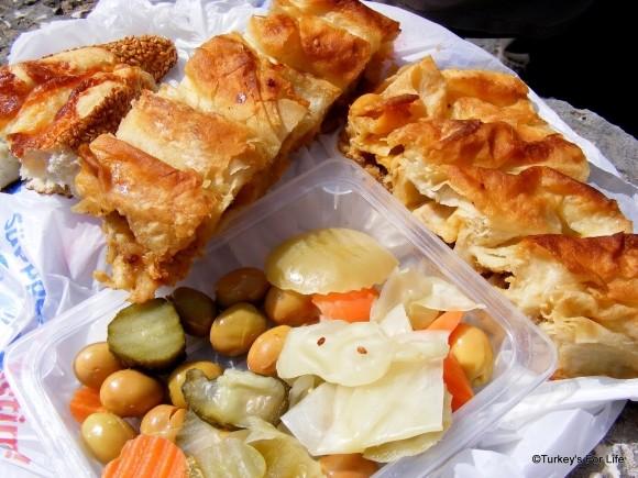 Turkish Food - Börek & Pickles