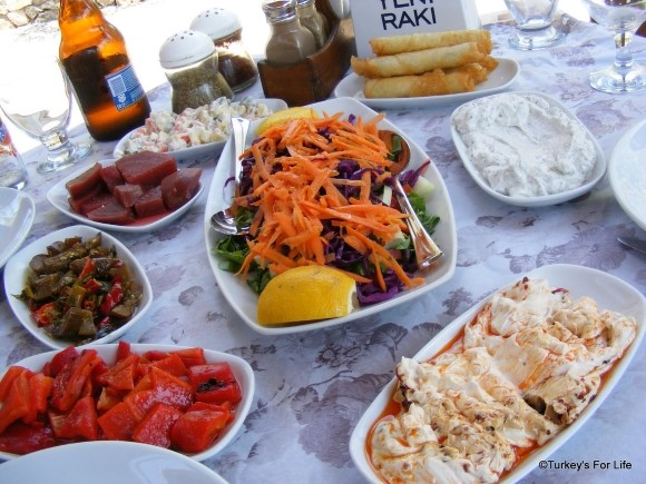 Cin Bal Meze Dishes, Kayaköy, Near Fethiye, Turkey