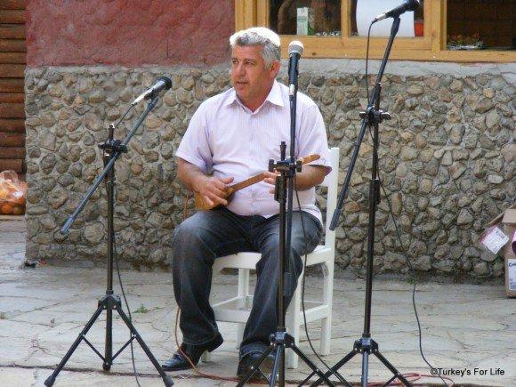 Saz Musician, Kayaköy, Fethiye, Turkey